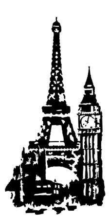 Матовый рисунок на стекло лондон